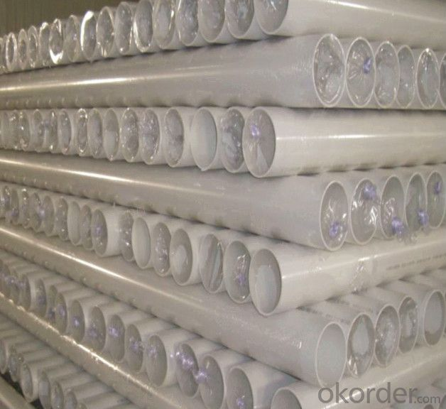 PVC pipe with 110MM, ASTM, AS,BS,ISO, GB  various color