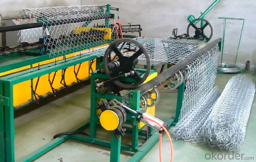 Chain Link Fence Machine with Mesh Size 50mm