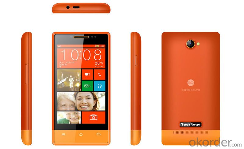 4 inch Mtk6572 Dual Core Android 4.2 Mobile Phone with 3G WCDMA2100/850