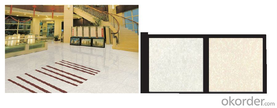 Polished Porcelain Tile Pilate Stone Serie White Color CMAX23601