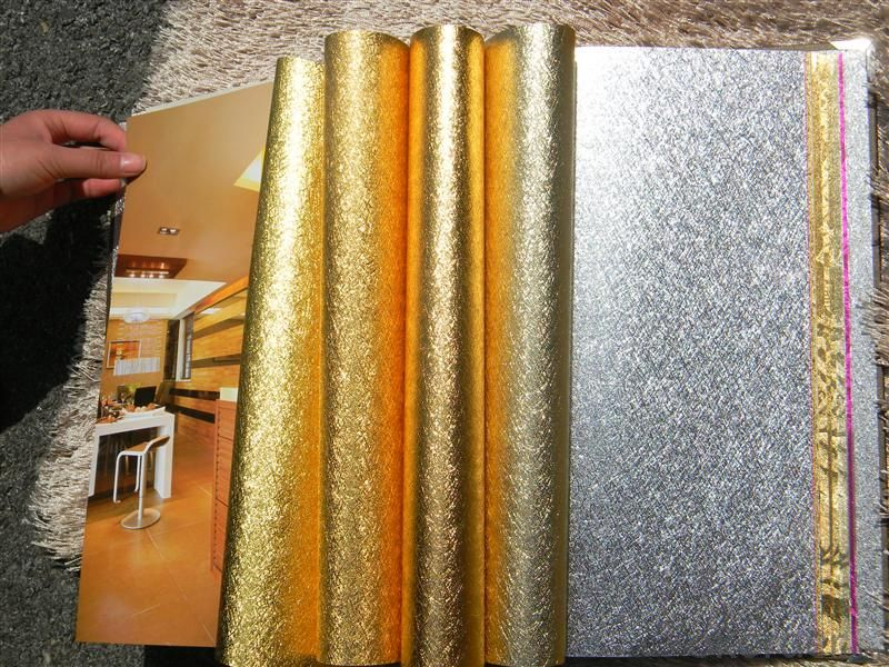 Metallic Wallpaper Home Decoration Interior 3d Wallpaper