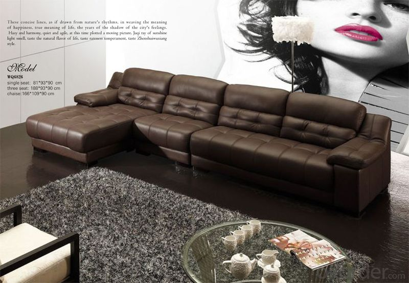 Leather Sofa Made of Full Import Top Grain Leather