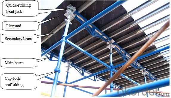 Cost Effective Slab Formwork System with Quick - Striking Head Jack
