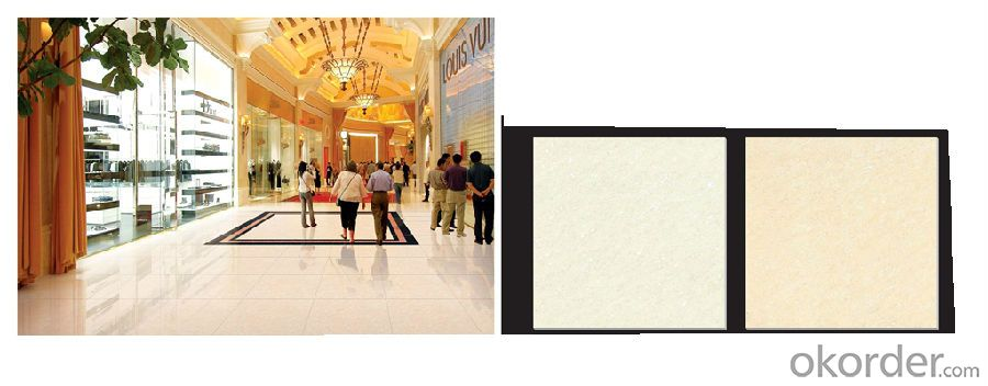 Polished Porcelain Tile Crystal Jade Serie Beige Color CMAX26604