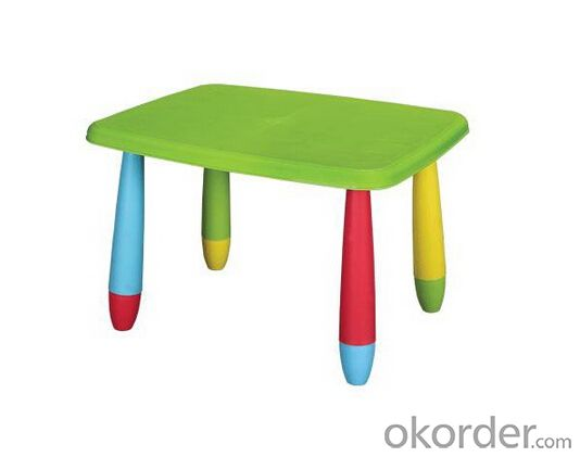 Polypropylene Plastic Table with Removable Legs, Light and Safe