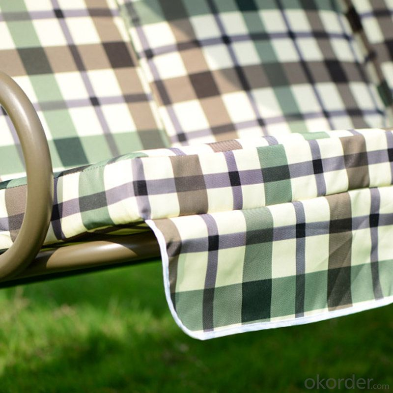 Check Gingham Garden Patio Swing Chair  CMAX-SC007LJY