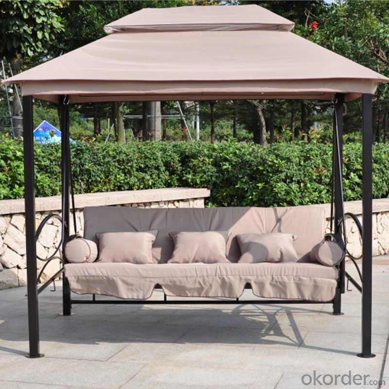 Patio Swing with Rome Style Top & Waterproof Cushion CMAX-SC003LJY