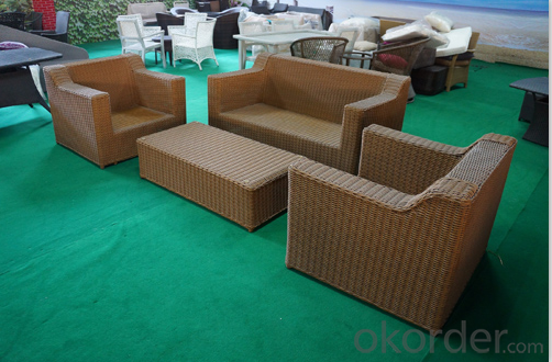 Round Rattan Garden Sofa sets for Outdoor Furniture CMAX-SS003CQT