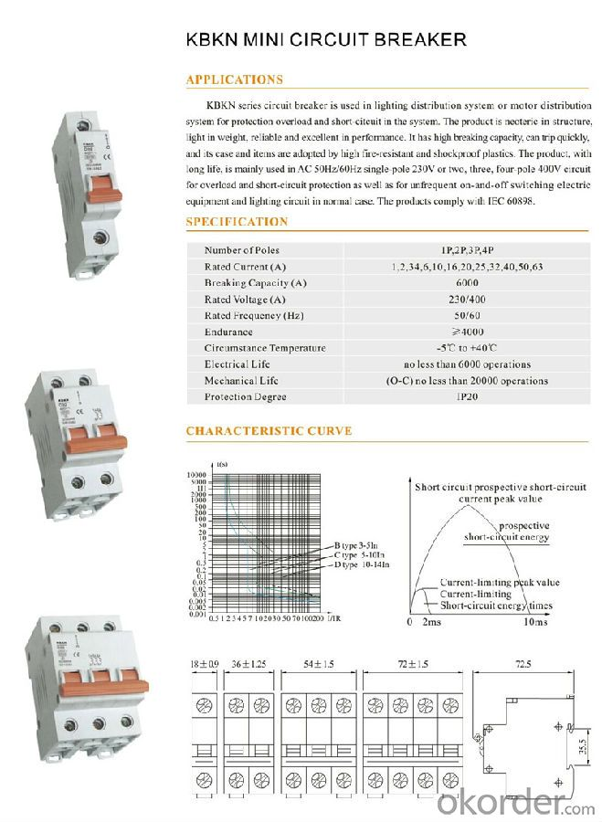 KBKN Series MINI Residual Current Circuit Breaker
