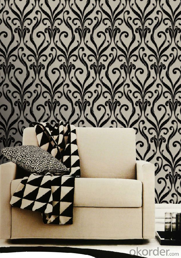 Nonwoven   Flocking Wallpaper  Luxury Wallpaper New  Design  Wallpaper