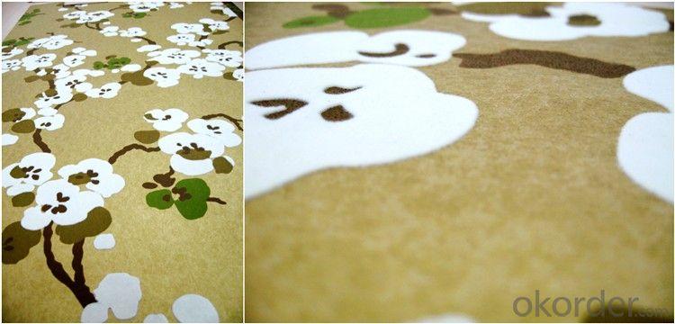 nonwoven wallpaper  velvet flocking wallpaper  home decoration  wallpaper