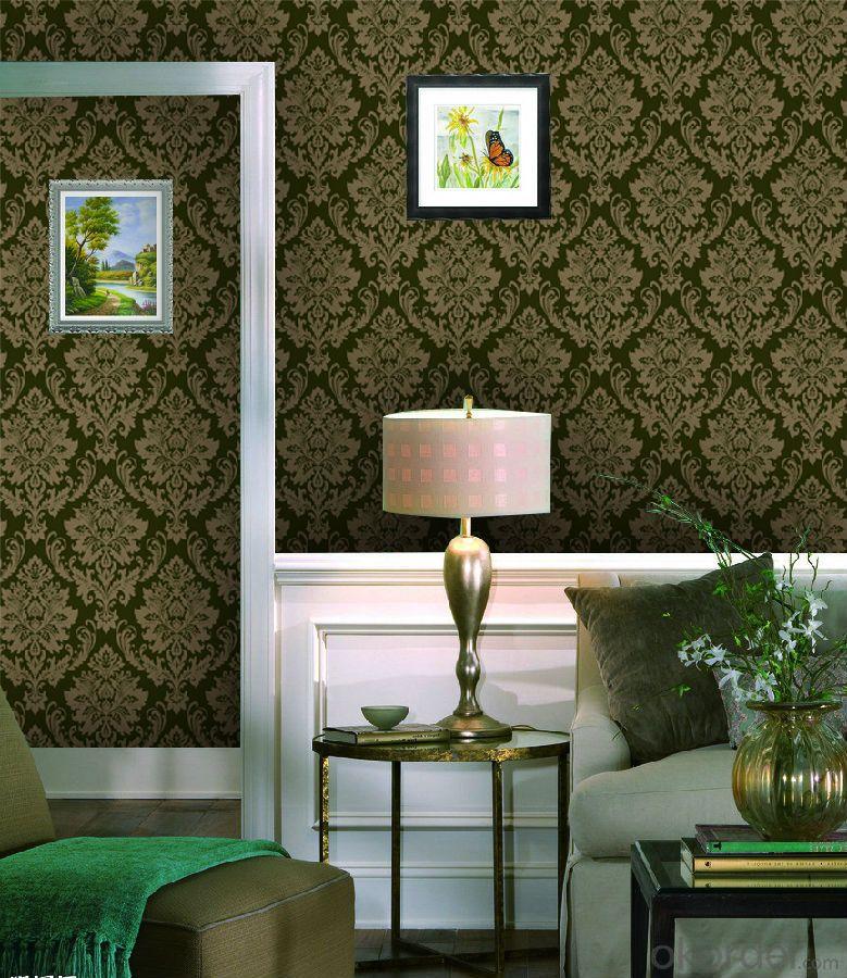 Flocked Wallpaper Home decoration wallpaper Stereo  Wallpaper