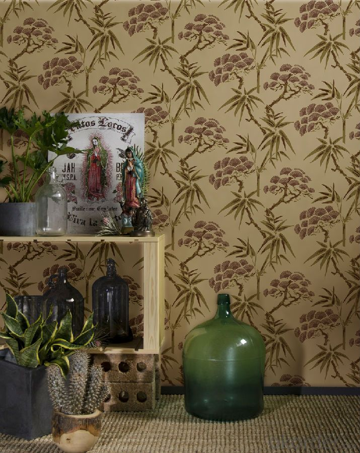Nonwoven Wallpaper  Velevet  Flocking Wallpaper  Project Wallpaper