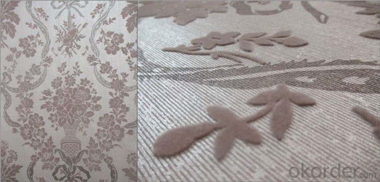 Flocked Wallpaper  Room  wallpaper  Nonwoven Wallpaper