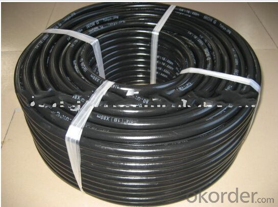 Rubber Braided Hose One Layer Steel Wire