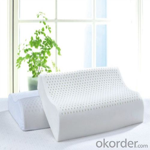 Latex Foam Pillow Breathable Oblong Milk White