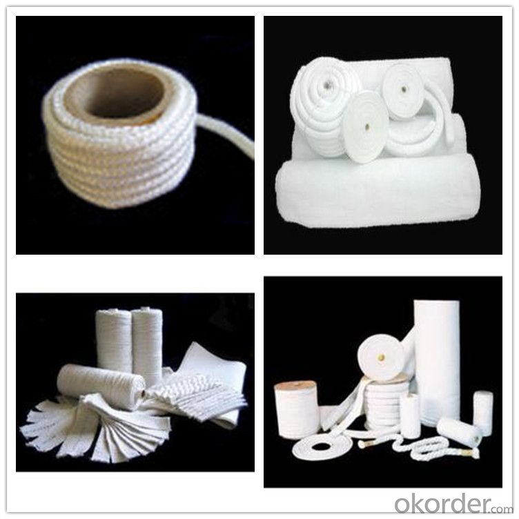 Refractory Ceramic Fiber Textiles 1000 Degree Ceramic Fiber Square Braided Rope