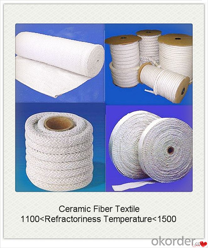 Ceramic Fiber Textiles Cloth Rope Tape Yarn for Heat Insulation Furnace Curtain