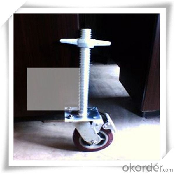 Solid Base Jack Electro Galvanized M30x400MM/120x120x4mm CNBM