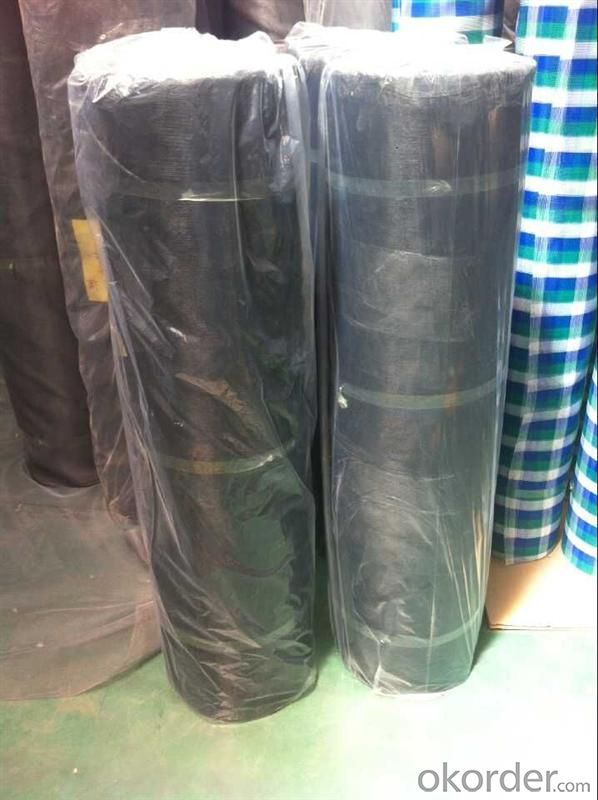 Fiberglass Mosquitoes Plain Mesh in Dark Black