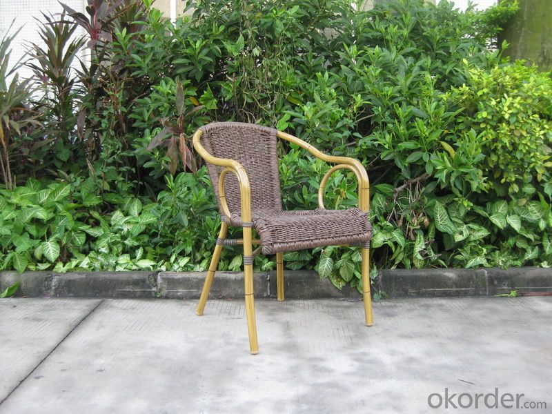 Outdoor Wicker Garden Chair with Aluminum Tube