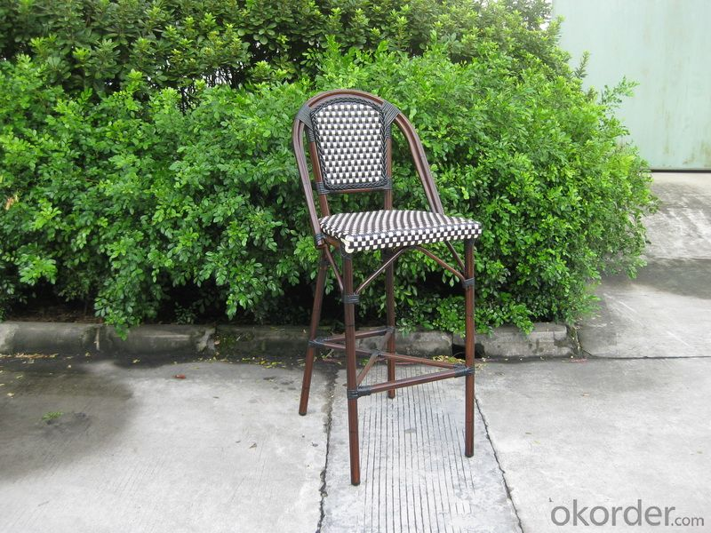 Outdoor PE Rattan Garden Chair with Aluminum Tube