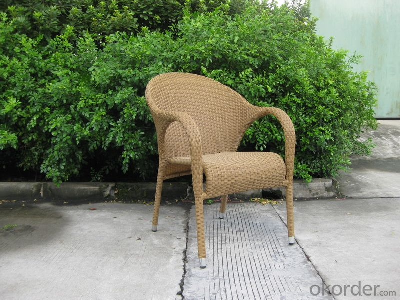 Outdoor Anti-UV PE Rattan Garden Chair with Aluminum Tube