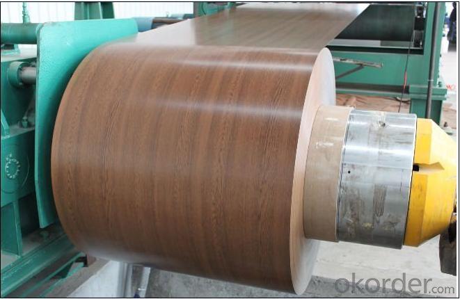 Wooden Pattern PPGI Color Coated Steel Coils for Garage Door