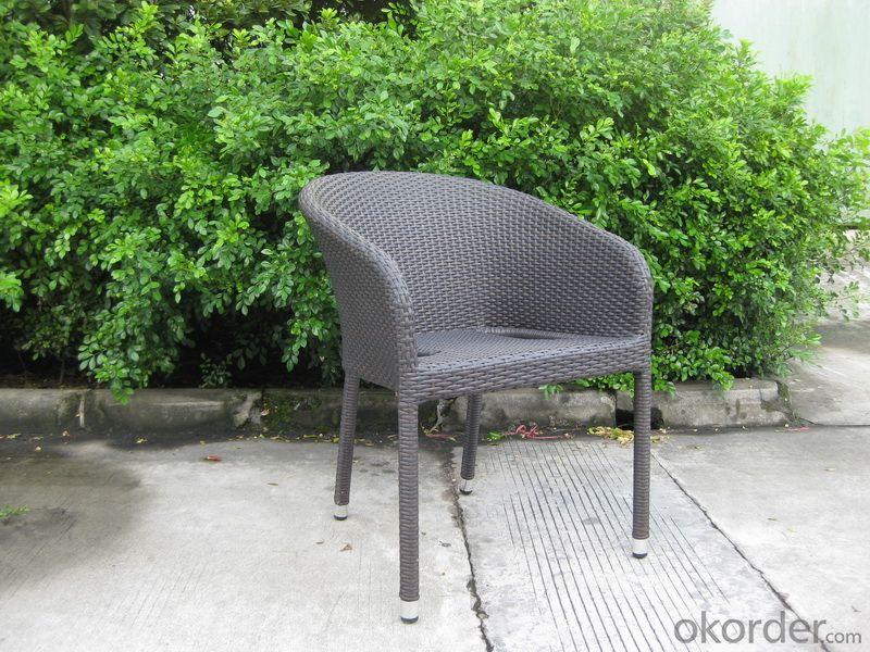Anti-UV PE Rattan Garden Chair with Aluminum Tube, Water Proof