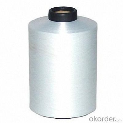 Plastic Nylon Covered Spandex Yarn White