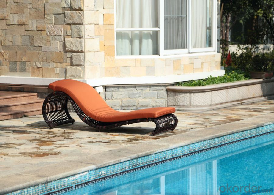 Deck chair bed/ wicker bed chairs for Outdoor