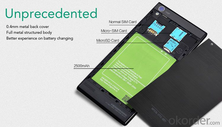 5.5inch HD Screen Mtk6582 Quad Core 3G Android Smart Mobile Phone