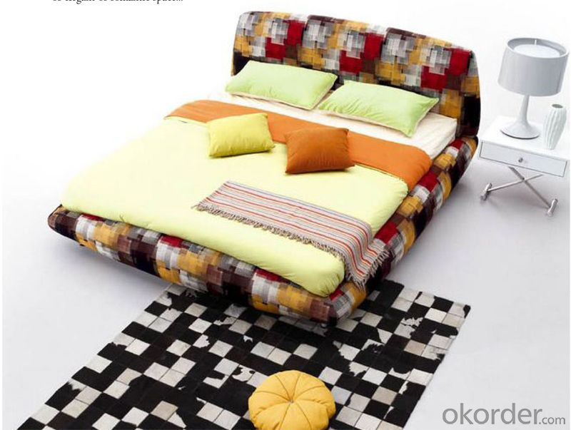 Bedroom Fabric Furniture with Colorful Pattern