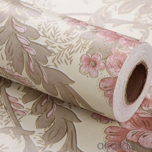 Self-adhesive Wallpaper Emboss Effect Interior PVC Wallpaper Designs