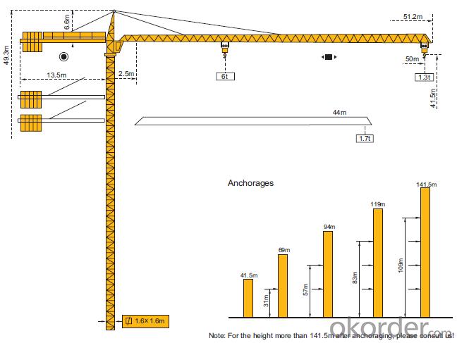 Topkit Mini Tower Crane Factory TC5013B(QTZ63)