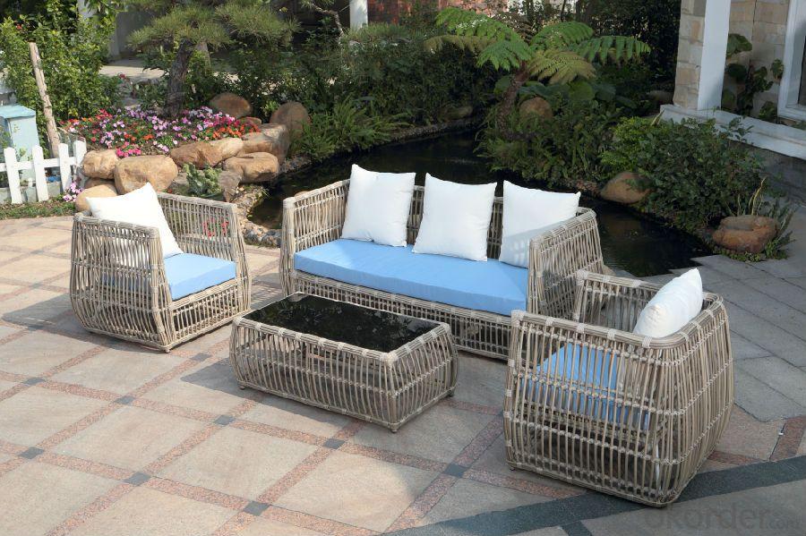 Aluminum rattan Outdoor sofas/ Synthetic Rattan Patio sofa set