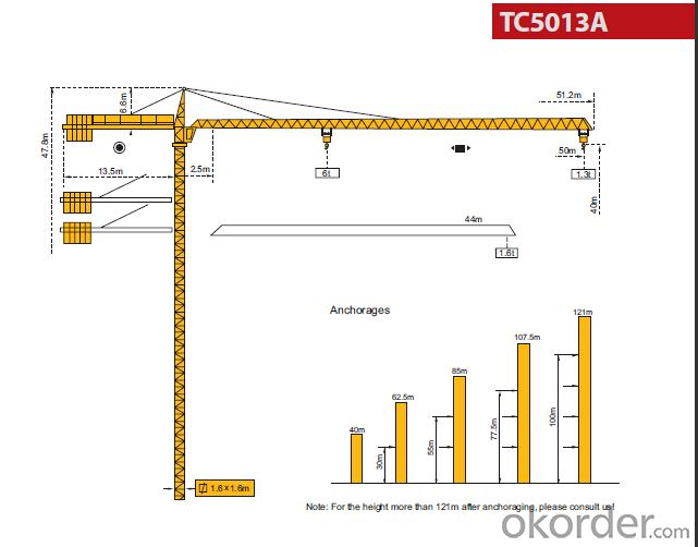 Tower Crane Price Used Tower Crane TC5013 sold on Okorder
