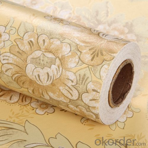 Self-adhesive Wallpaper Rotary Screen Flower Design  Kids Wallpaper