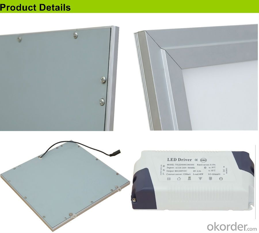 LED Panel Light High CRI Ultra Thin 600*600mm For Ceiling