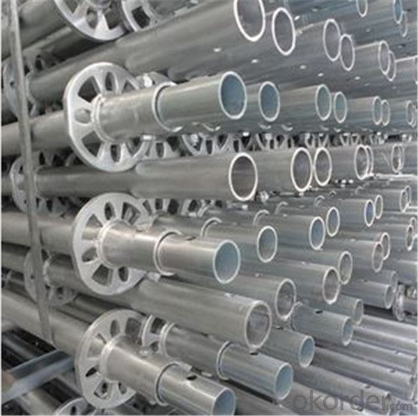 Q345 Hot Dipped Galvanized Ringlock Standard With Spigot 48.3*3.00*2000mm CNBM