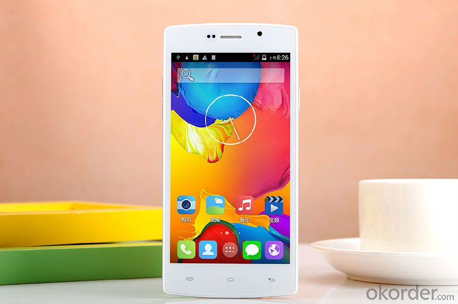 5 inch Smartphone MTK6582 Quad-Core1.3GHz IPS FWVGA/IPS 480*854 Resolution
