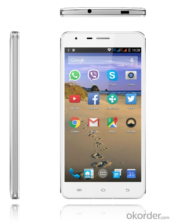 5.5 inch Smartphone MTK 6582 Quad-core1.3GHz IPS FWVGA/IPS 480*854 Resolution