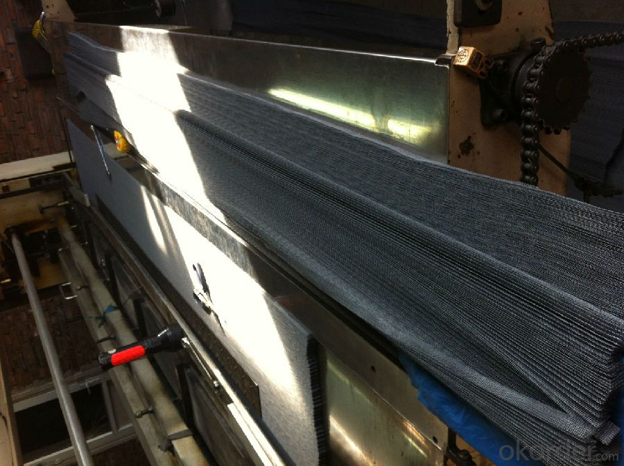 Polyester Pleated Mesh for Window System