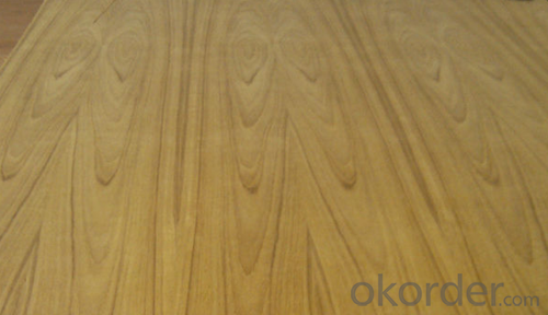 3.0mm Natural Teak Veneer with Flower Grain Fancy Plywood