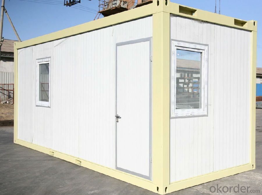 Container Houses 20ft Size EPS Wall 50mm Thickness with Toliets