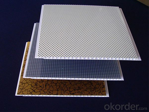 PVC Ceiling Panel Lamination Groove Ceiling Tiles