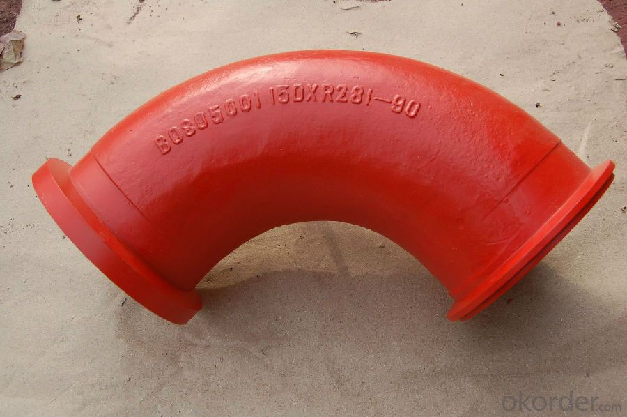 Concrete Pump Elbow R275, 90DGR AC Red with High Quality