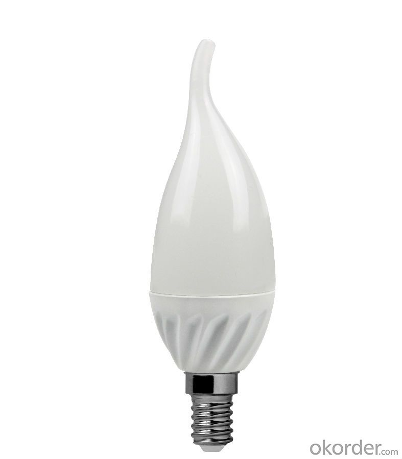 LED Candle Light E27 /E14 3000k-4000K-5000K-6500k C37 6W CRI 80  480 Lumen Non Dimmable
