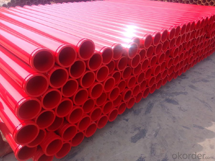 CONCRETE PUMP Delivery Pipe 3 M*DN125*4.5Thickness nd148mm Flange