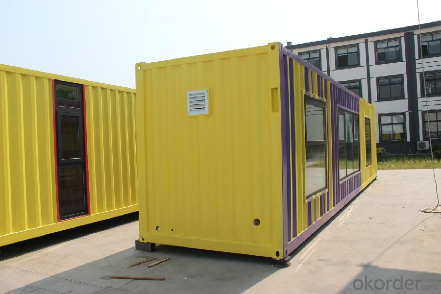 Container Cabin Steel Frame Structure Sandwich Panels Wall and Roof